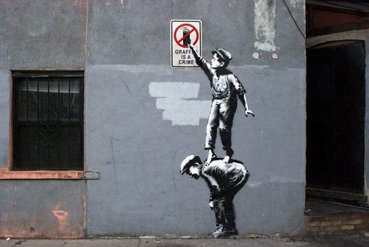 Bansky's street art work