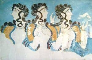 Art of the Minoans queen fresco