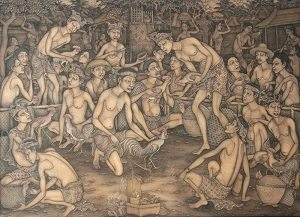 Balinese paintings in Indonesia