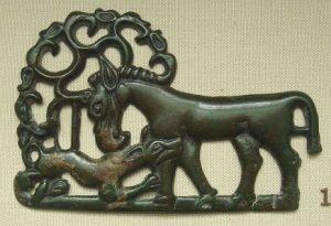 Steppe Art - Bronze Ordus Culture Plaque
