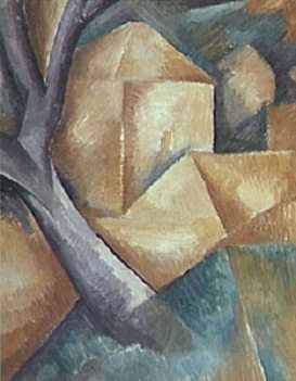 Cubism art by Braque cubes