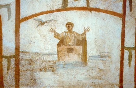 Noah Praying in the Ark – Roman Catacombs - The Artist ...