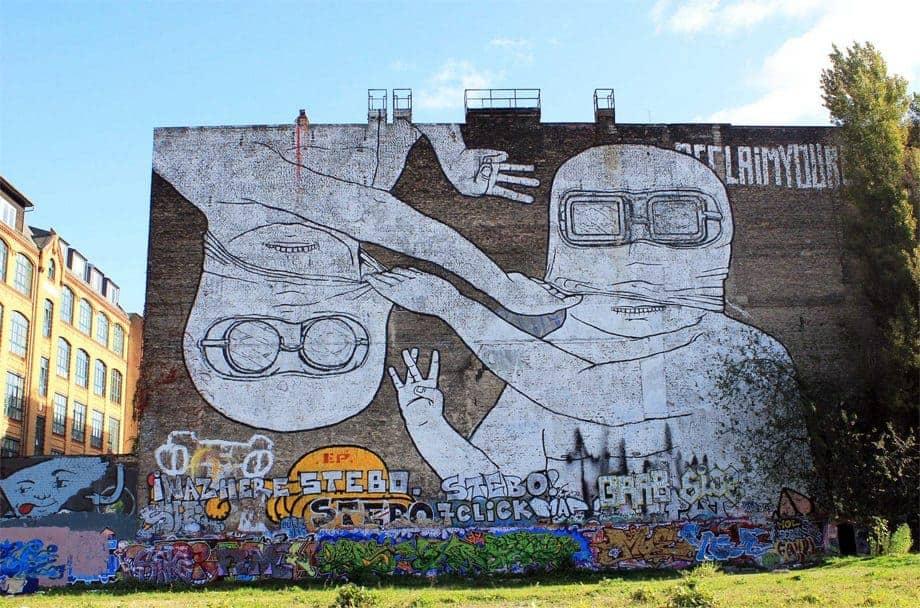 Murals in Kreuzberg by BLU