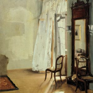 Painting by Adolf Menzel - Balcony Room