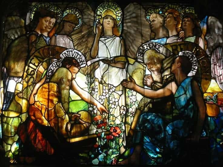 Education (Stained glass window) – Louis Comfort Tiffany