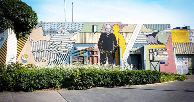 Bohumil-Hrabal-Mural