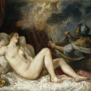 Danae with Nursemaid painting by Titian