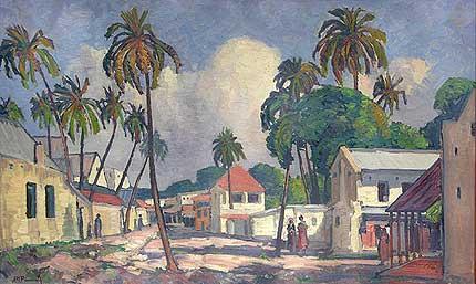 Dar-es-Salaam Painting by Jacobus Hendrik Pierneef.