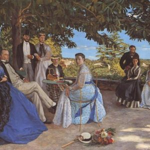 Family Reunion Painting by Frederic Bazille.