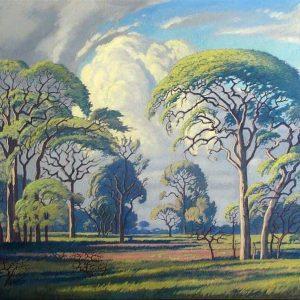 Hardkoolbome - Bosveld Painting by Jacobus Hendrik Pierneef.