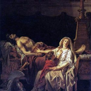 Andromache Mourning Hector Painting by Jacques Louis David