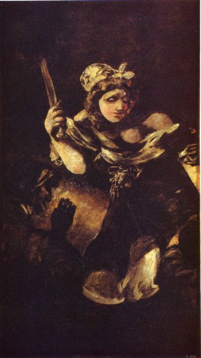 Judith and Holofernes black paintings goya