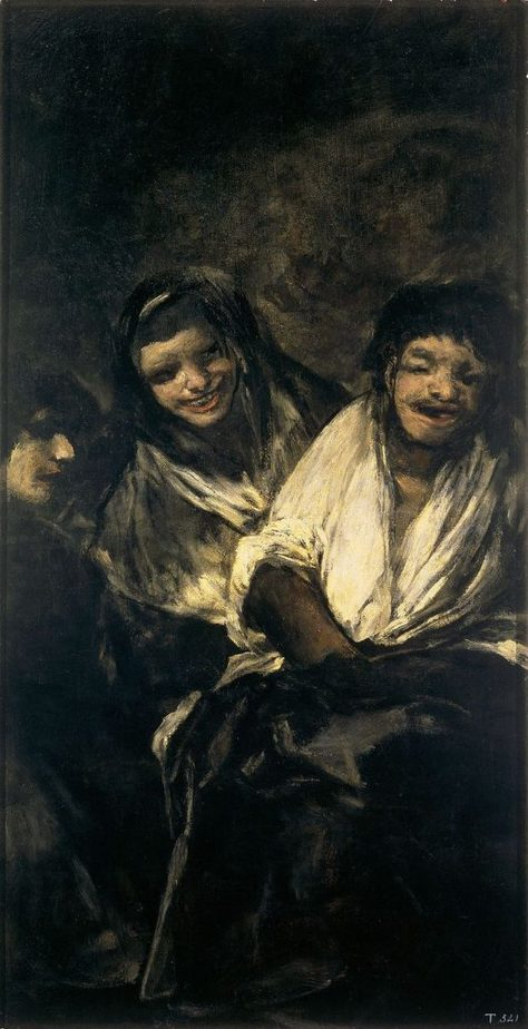 Mujeres riendo black paintings goya