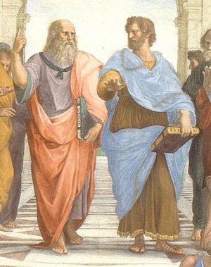 Plato-Aristotle in The School of Athens