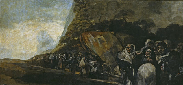 Procession of the Holy Office black paintings goya