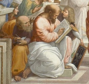 Pythagoras in The School of Athens