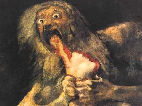Saturn Devouring His Son black paintings goya