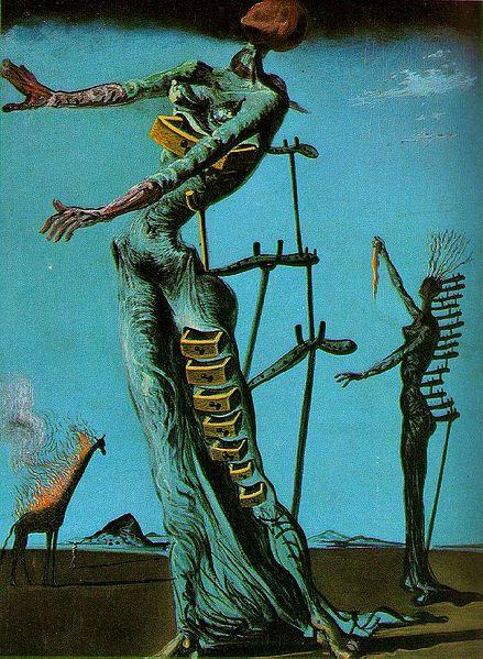The Burning Giraffe Painting By Salvador Dali