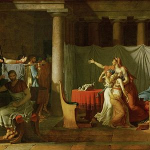 The Lictors Bring to Brutus the Bodies of His Sons Painting by Jacques Louis David