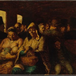 The Third Class Carriage Painting by Honore Daumier.