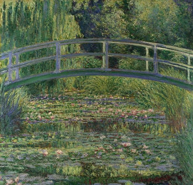 The Water Lily Pond Painting by Claude Monet.