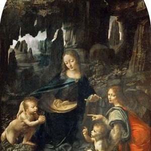 Virgin of the Rocks Painting by Leonardo da Vinci.