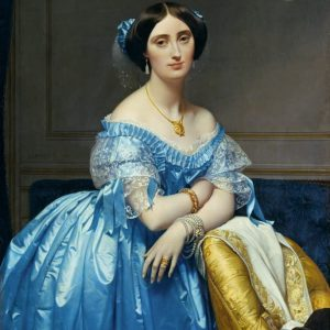 Portrait of Princesse de Broglie Painting by Jean Auguste Dominique Ingres