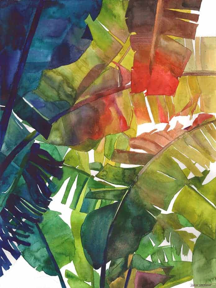 Jungle watercolor by Maja