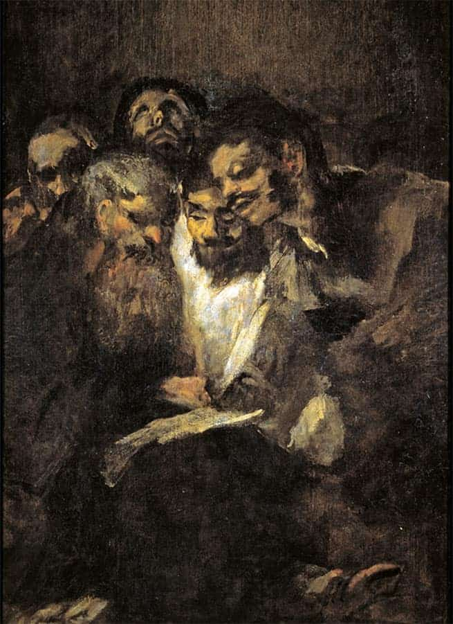 Reading Men Black Paintings by Goya