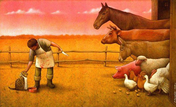 famous paintings satire