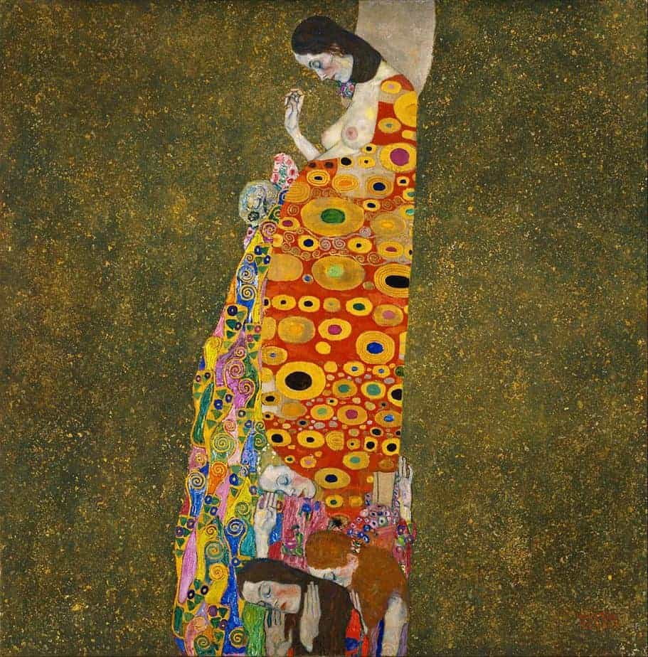 pregnant women in art, gustav klimt paintings. Hope II