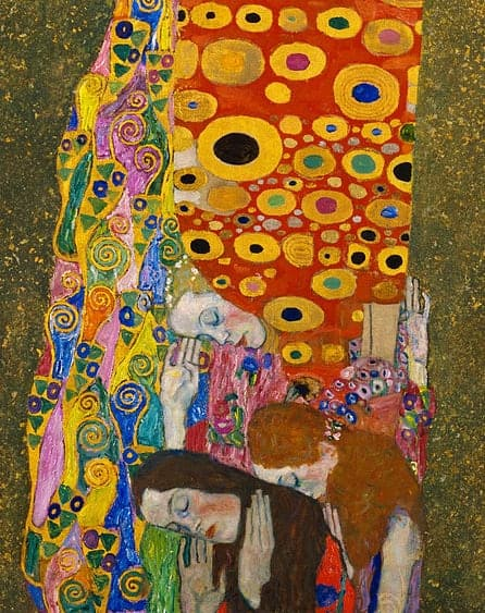 pregnant women in art, gustav klimt paintings