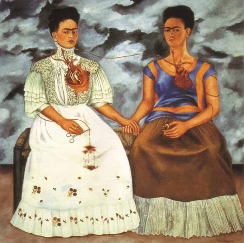 Frida Kahlo paintings artwork - Two Fridas