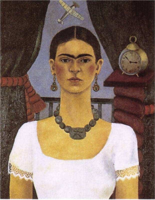 Self Portrait Time Flies by Frida Kahlo