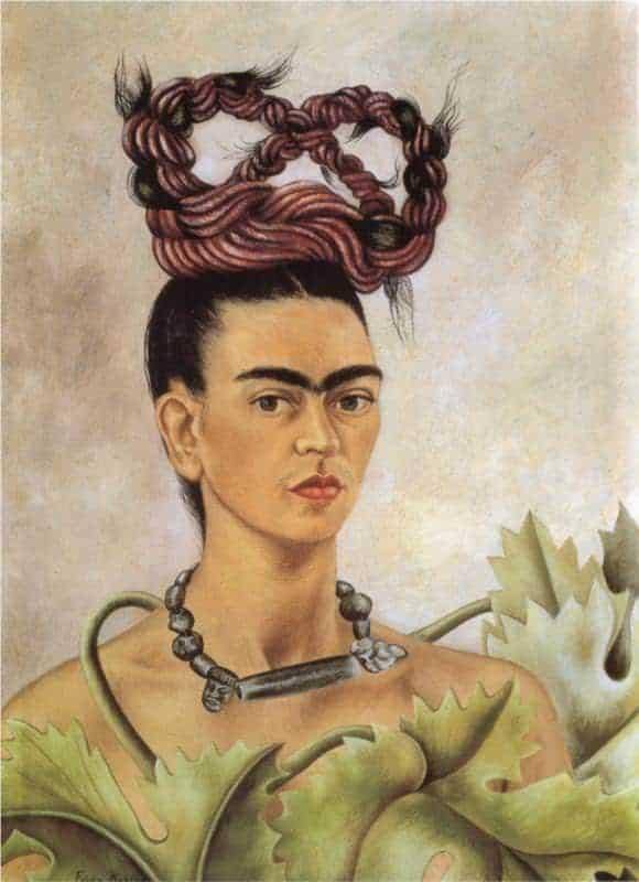 Self Portrait with Braid by Frida Kahlo