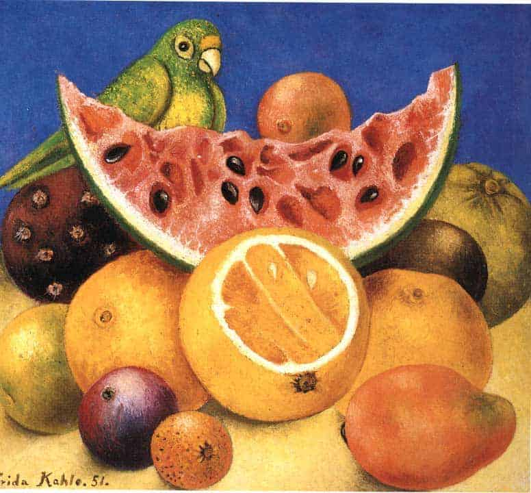 Still Life with Parrot Frida Kahlo
