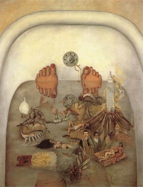 What I saw in the water by Frida Kahlo