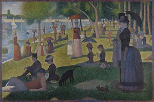 Cubism art depicted by A Sunday Afternoon on the Island of La Grande Jatte