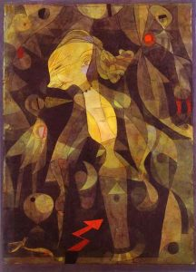 A Young Lady's Adventure painting by Paul klee