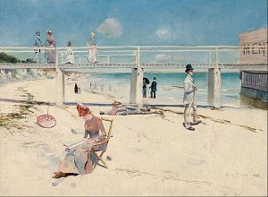 Impressionism art depicted by A holiday at Mentone
