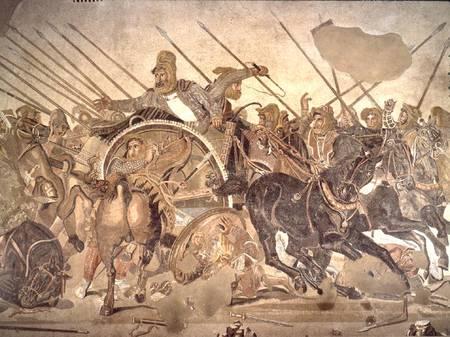 Roman artwork depicted by Alexander Mosaic
