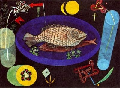 Around the Fish painting by Paul klee