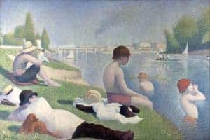 Cubism art depicted by Bathers at Asnieres