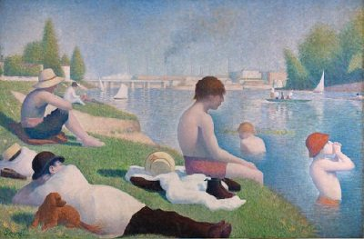 Nature in Art depicted by Bathers at Asnieres
