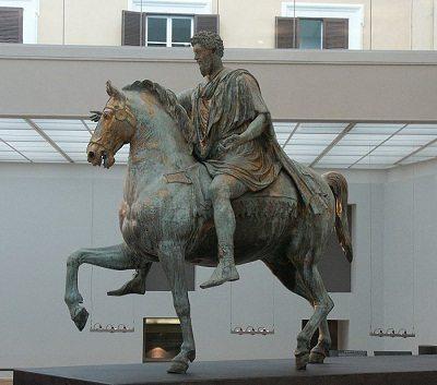 Roman artwork depicted by Equestrian Statue of Marcus Aurelius