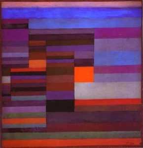 Fire in the Evening painting by Paul klee