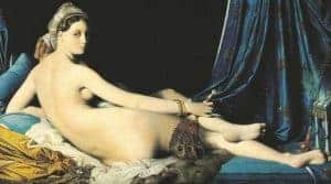 Beauty in Art depicted by Grande Odalisque