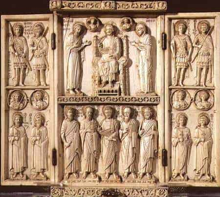 byzantine art depicted by Harbaville Triptych