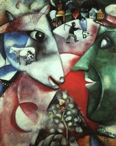 Cubism art depicted by I and the Village