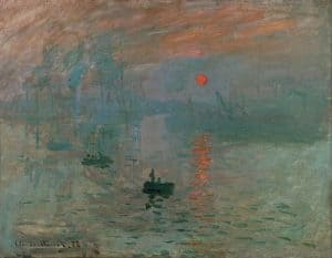 Impressionism art depicted by Impression Sunrise